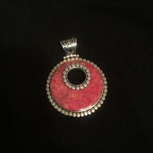 Jewelry - Beautiful silver and red stone pendant